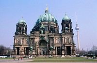 Cathedral and garden. Berlin. Germany