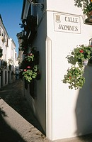 Jazmines Street with Real Street. Priego de Cordoba. Cordoba province. Andalucia. Spain
