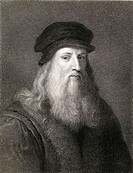 Leonardo da Vinci (1452-1519). Florentine artist From the book ´Gallery of Portraits´ published London 1833.