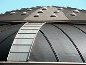 Detail of Palau Sant Jordi sports arena by Arata Isozaki. Barcelona. Spain