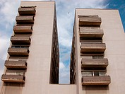 Block of flats. Barceloneta district, Barcelona. Spain