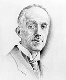 Louis de Broglie (1892-1987), French physicist, artwork. De Broglie was instrumental in showing that waves and particles can behave like each other at...