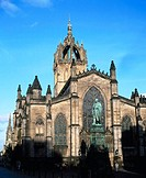St. Giles cathedral, Royal Mile. Edinburgh. Scotland