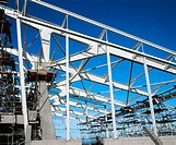 Steel framework, leisure centre under construction (thumbnail)