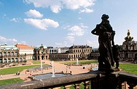 Zwinger Palace from courtyard. Dresden. Saxony. Germany