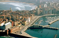 View of Gijon in Asturias. Spain