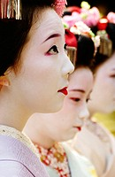 Women in traditional dress. Kyoto. Japan