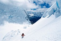 Ascension to Mount Huascaran (6768 m.), Andes, Peru