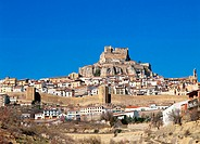 View of Morella in Castellon. Comunidad Valenciana. Spain