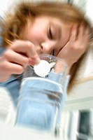 CHILD TAKING MEDICATION<BR>Model.