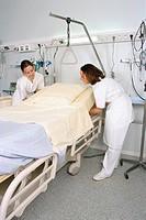 HOSPITAL HYGIENE<BR>Photo essay from hospital.<BR>Beaujon Hospital, in Clichy, near Paris, France.