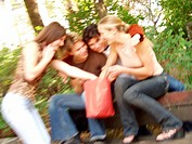 teenager group outdoor