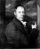 Oil painting by John Linnell (1792-1882) of Richard Trevithick (1771-1833), the first person to use high pressured steam to drive an engine. Until 180...