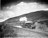 Photograph by Maurice Earley showing the 'Princess Margaret Rose´, steam locomotive No 6203, on the West Coast Main Line, Lune Valley, Durham. This Lo...