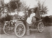Photograph taken from an album of images compiled by English motorist, motor car manufacturer and aviator Charles Stewart Rolls (1877-1910). Rolls was...