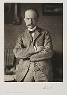 Photogravure after a photograph by Rudolf Duhrkoop of Max Planck (1858-1947). Born in Kiel, Germany, Planck studied at Munich and Berlin Universities,...