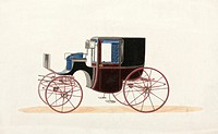 Drawing of a design for a coach by Hooper & Co, coachbuilders to Queen Victoria and the Prince of Wales.