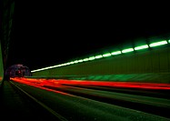 Light trails at night, blurry (thumbnail)