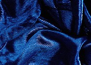 Crumpled blue fabric, close-up, full frame