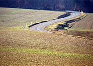 Road through crop fields (thumbnail)