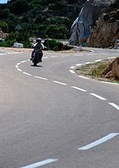 Motorcycle on winding road
