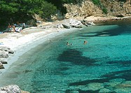 Corsica, beach and turquoise water