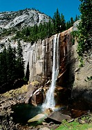 California, Yosemite National Park, waterfall