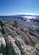 New Zealand, rocky shoreline and sea