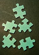 Puzzle pieces, close-up