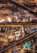 Graffiti on metal