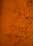 Writing on orange wall