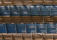 Steel building materials, close-up