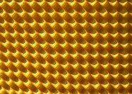 Pattern in isolation material, close-up