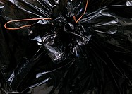 Garbage bag, extreme close-up