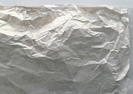 Wrinkled sheet of paper, close-up