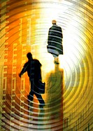 Businessmen walking and woman standing in spiral, montage