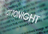 'Not Tonight' white typography overlaying text paragraph, montage