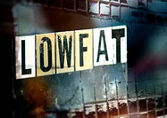 'Low fat' typography, montage