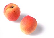 Two apricots, close-up