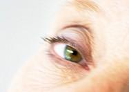 Senior woman´s eye, close-up, blurred