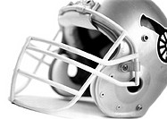 Football helmet, b&w