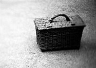 Picnic basket, b&amp;w