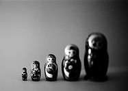 Russian nesting dolls, b&amp;w