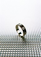 Metal ring, close-up