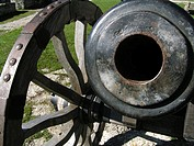 A canon in the inner yard of the Fortress of Rakvere (Wesenberg), a reknowned medieval stronghold in Northern Estonia