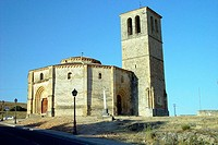 Templar church of the Vera Cruz near Zamarramala. Segovia province. Spain