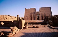 Horus Temple in Edfu. Egypt
