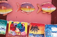 Paintings. Las Terrenas. Samana Peninsula. Dominican Republic. West Indies. Caribbean