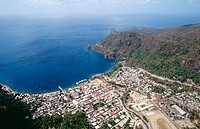 Soufriere (town built in 1713). St. Lucia. West Indies. Caribbean