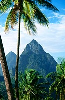 Petit Piton and Grand Piton. Soufriere. St. Lucia. West Indies. Caribbean